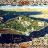 Butrint mural ~ for Lord Rothschild, Corfu